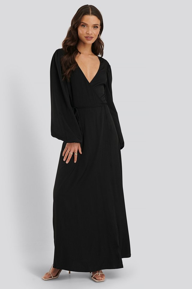 Wrap Around Maxi Dress Outfit