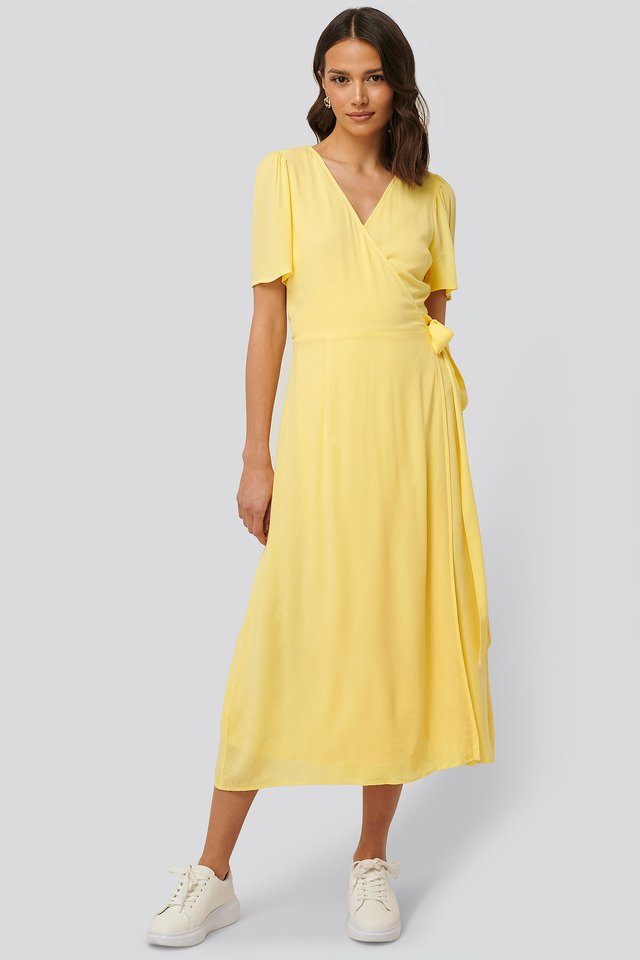 Overlap Maxi Dress Outfit