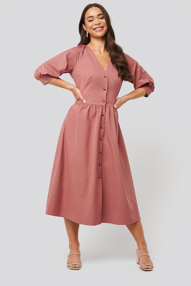 Belted Balloon Sleeve Dress Outfit