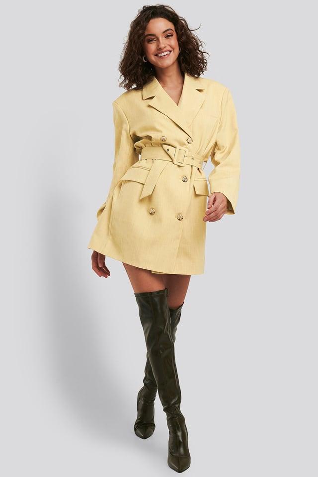 Graphic Heel Overknee Boots Outfit