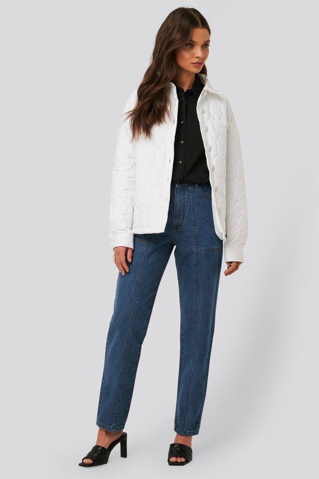 Quilted Buttoned Jacket