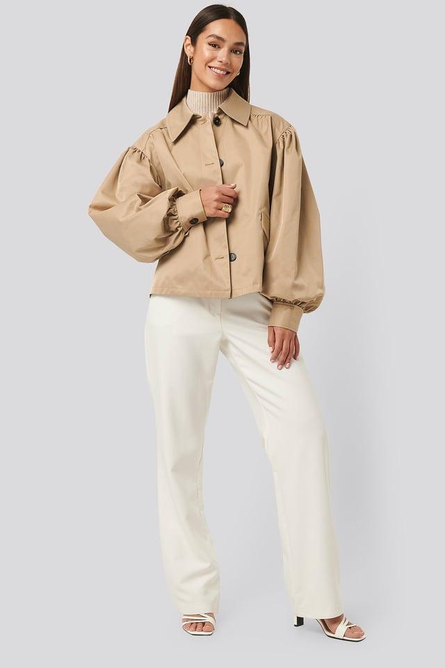 Balloon Sleeve Short Jacket