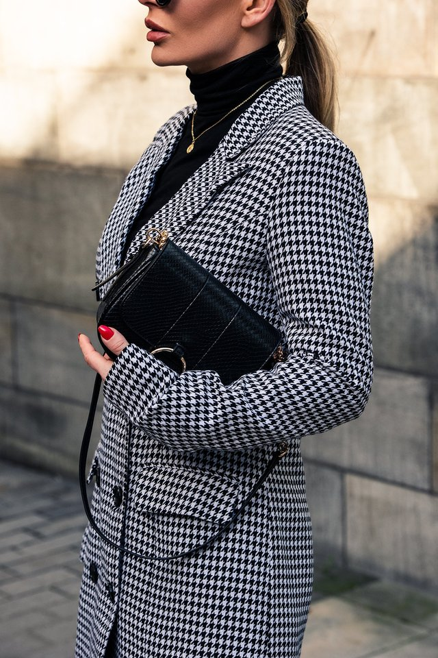Dogtooth Blazer Dress, outfit, fw