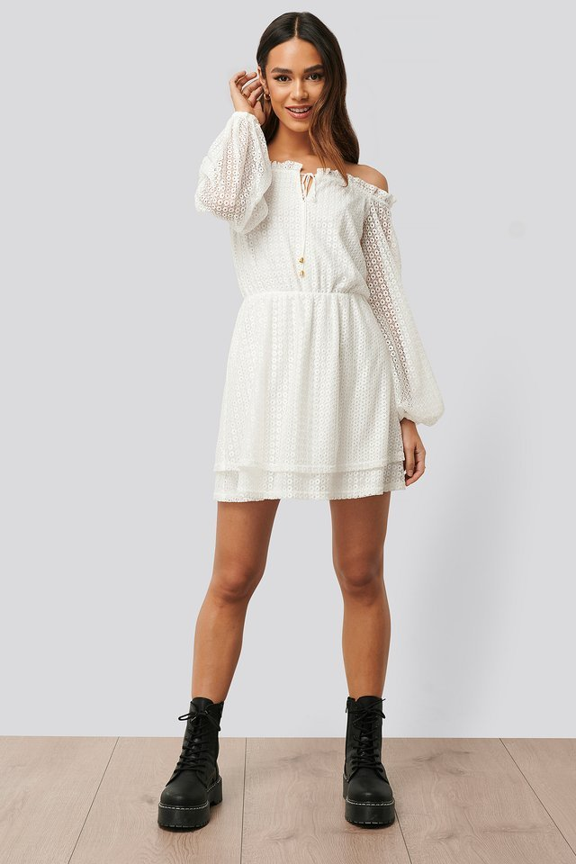 Ruffle Detail Mini Dress Outfit