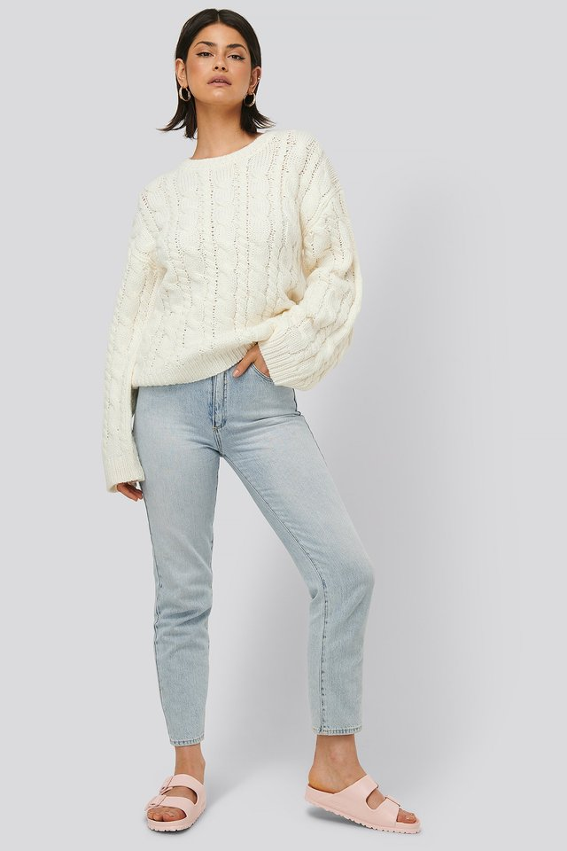 Cable Knitted Round Neck Sweater