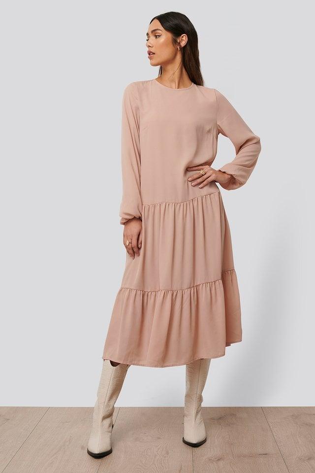 Ruffle Chiffon Dress