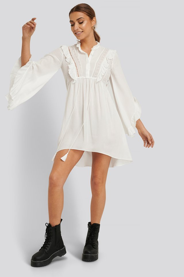 Flywheel Asymmetric Mini Dress
