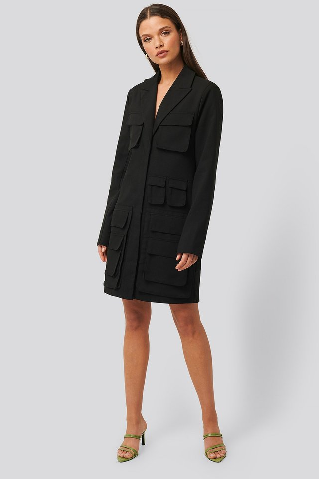 Pocket Blazer Dress