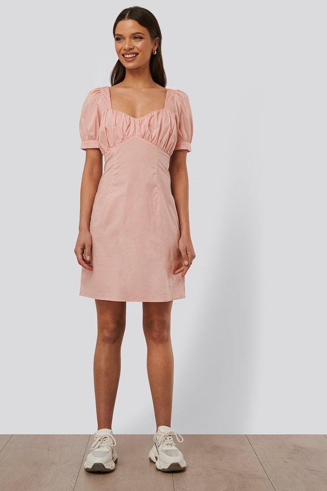 Bust Puff Sleeve Mini Dress