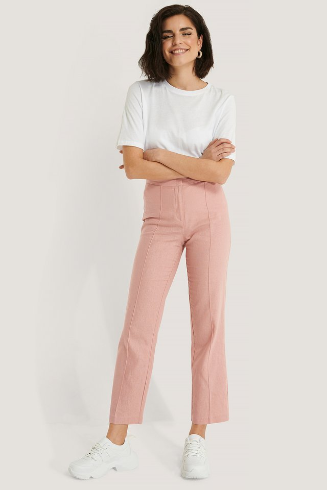 Linen Look Suit Pants
