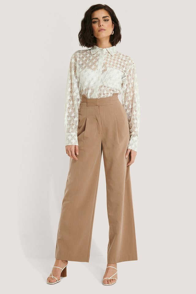 Asymmetric Waist Pants