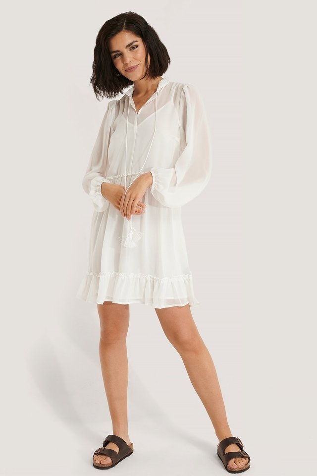 Long Sleeve Flowy Mini Dress Outfit
