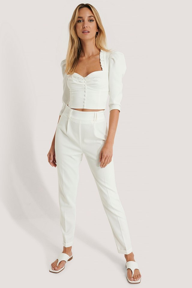 Satin Belt Detailed Trousers Outfit