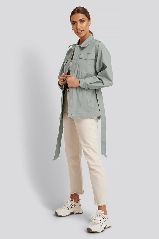 Cotton Belted Jacket
