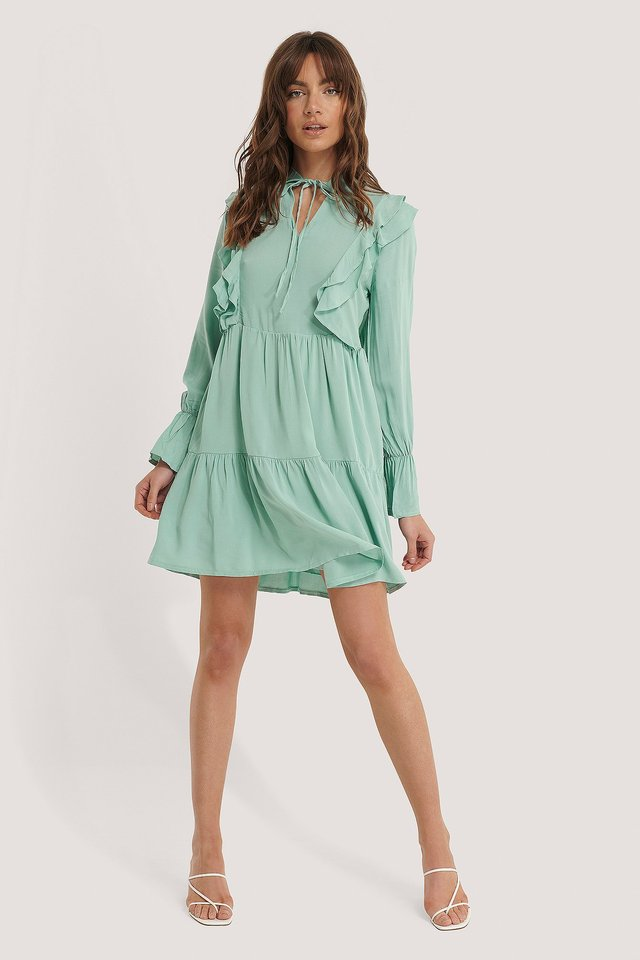 Ruffle Flywheel Mini Dress