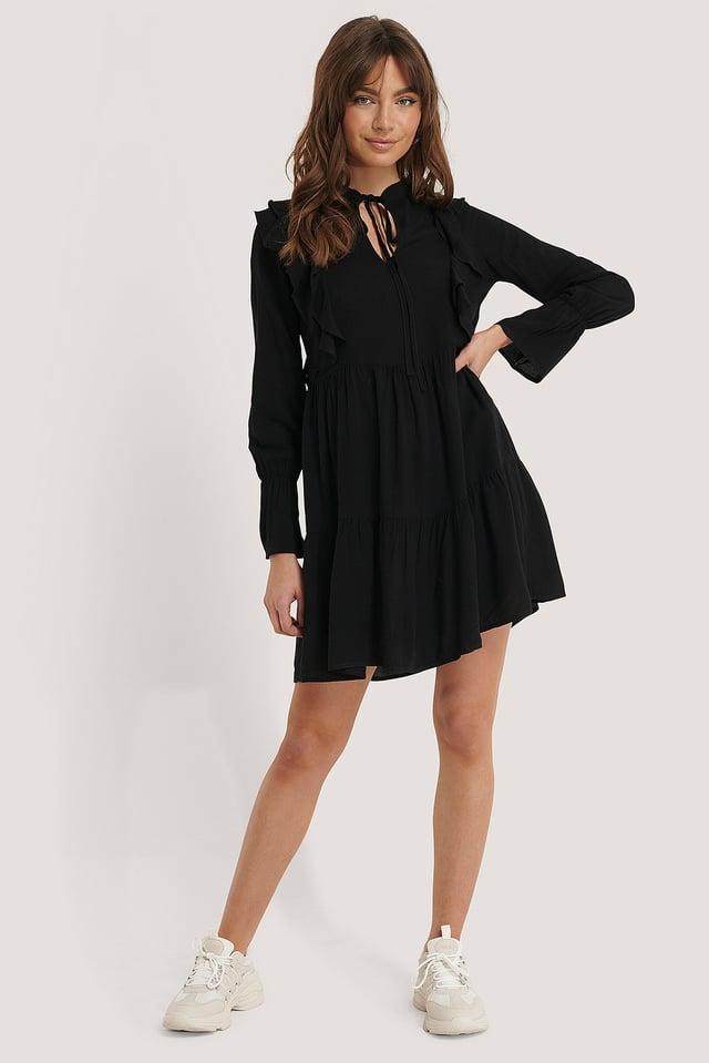 Ruffle Flywheel Mini Dress