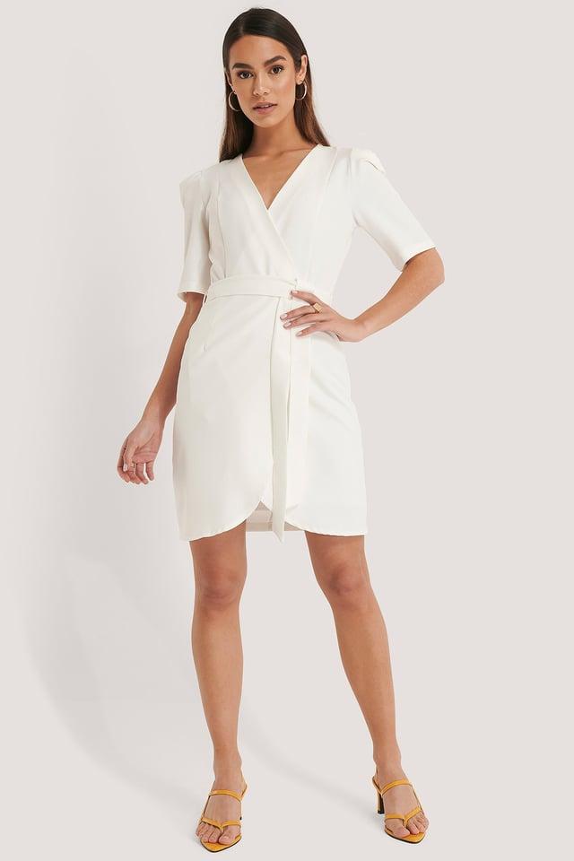 Belted Wrap Mini Dress