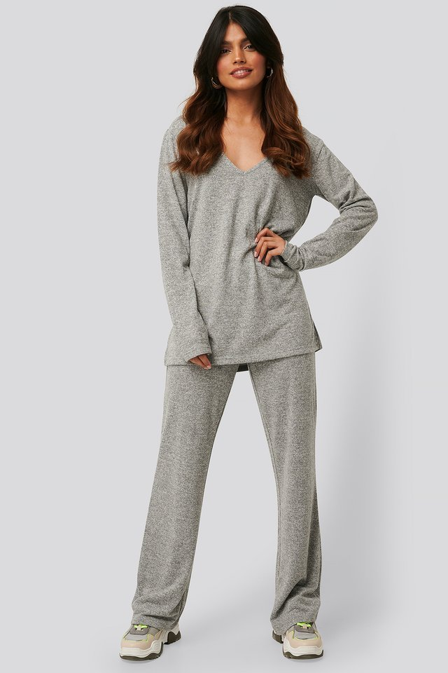 Lounge V-Neck Knitted Sweater