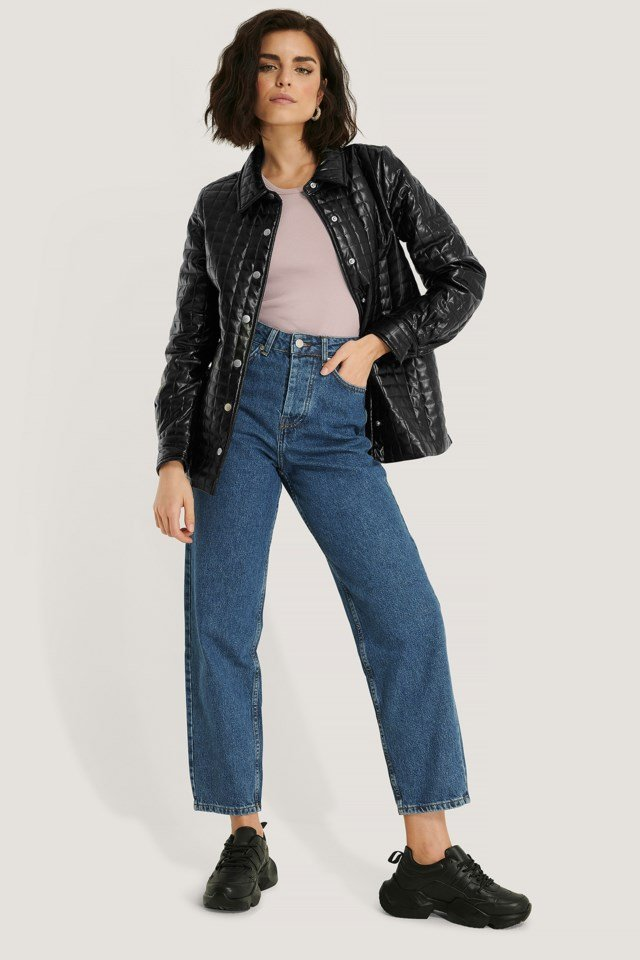 Quilted PU Jacket
