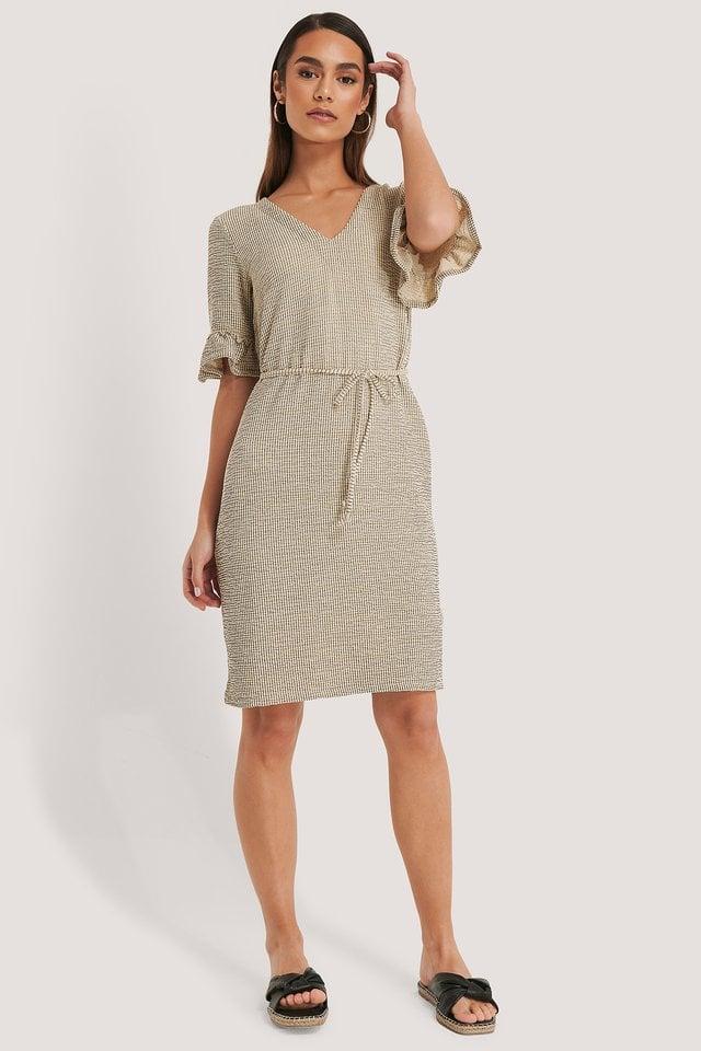 Flounce Structured Jersey Dress