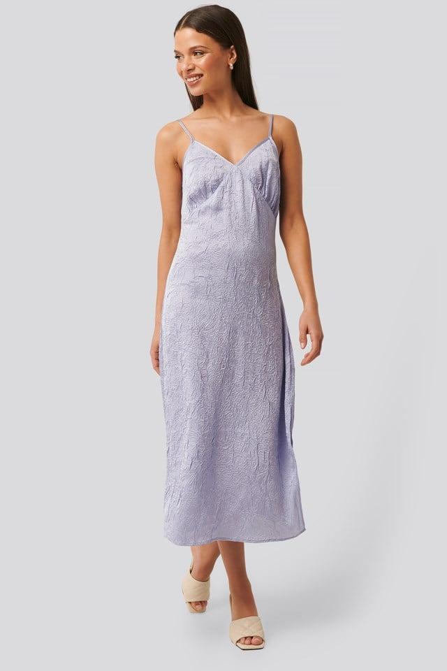 Satin Wrinkle Dress