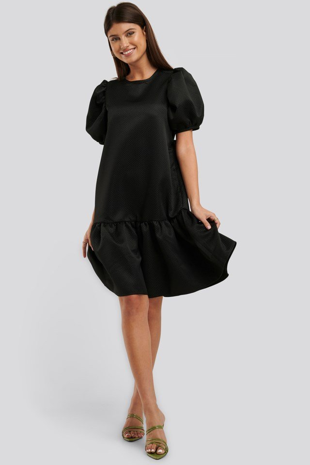 Tie Back Structured Dress