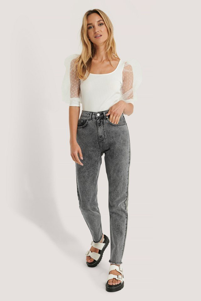 Stone Washed Slim Jeans