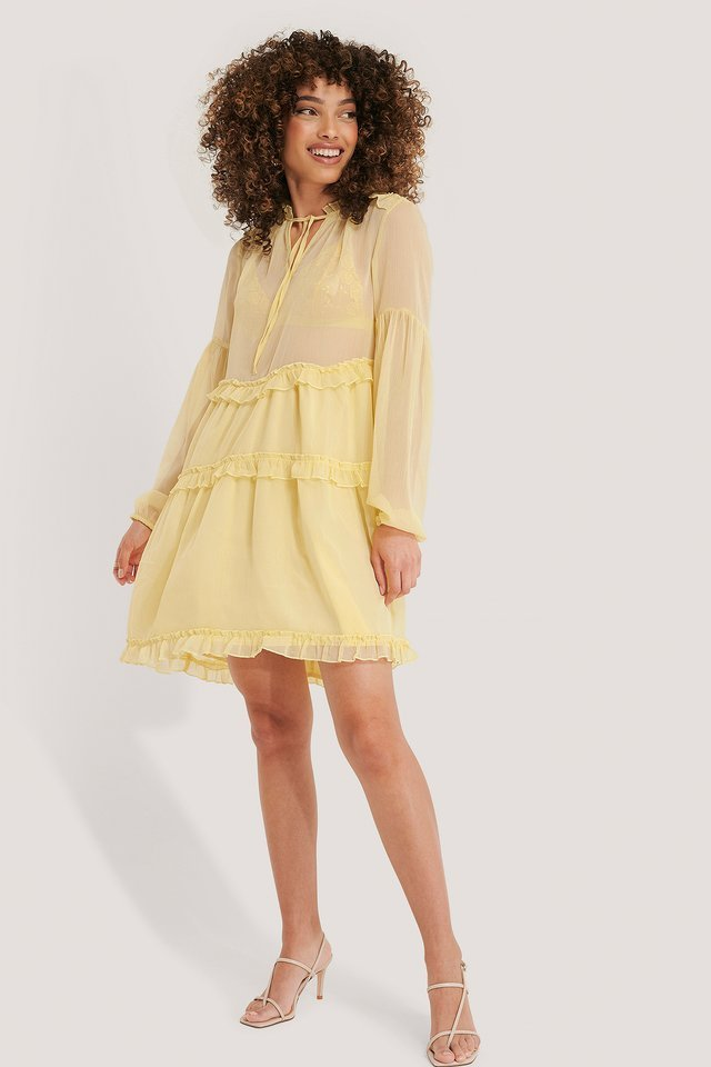 Ruffle Chiffon Dress