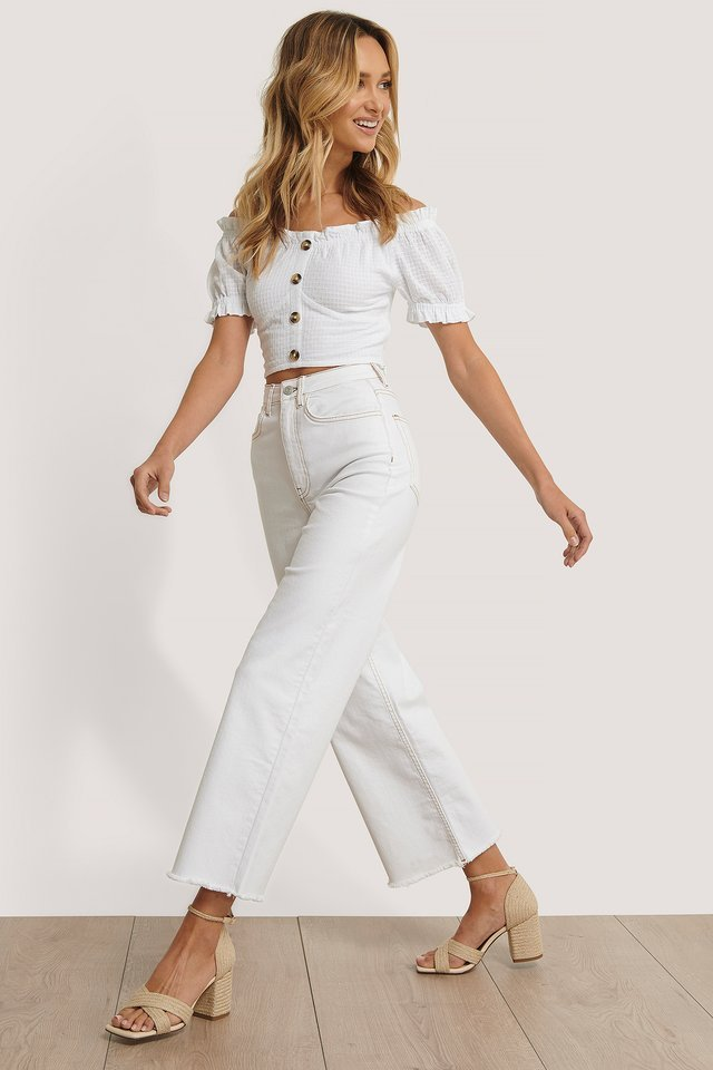Structured Cropped Blouse Outfit