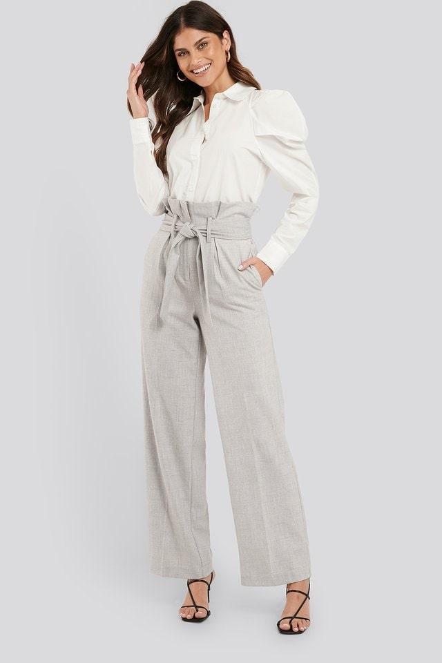 Maxi Paperwaist Suit Pants