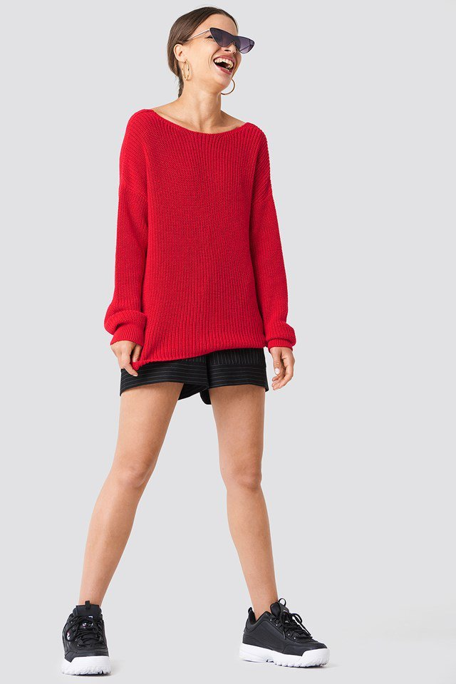 Oversize Sweater with Shorts