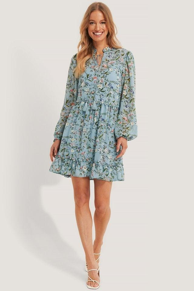 Long Sleeve Flowy Mini Dress Outfit