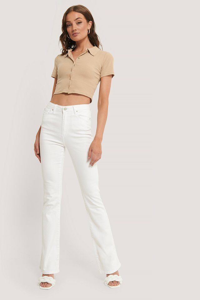Wos High Waist Flare Jeans