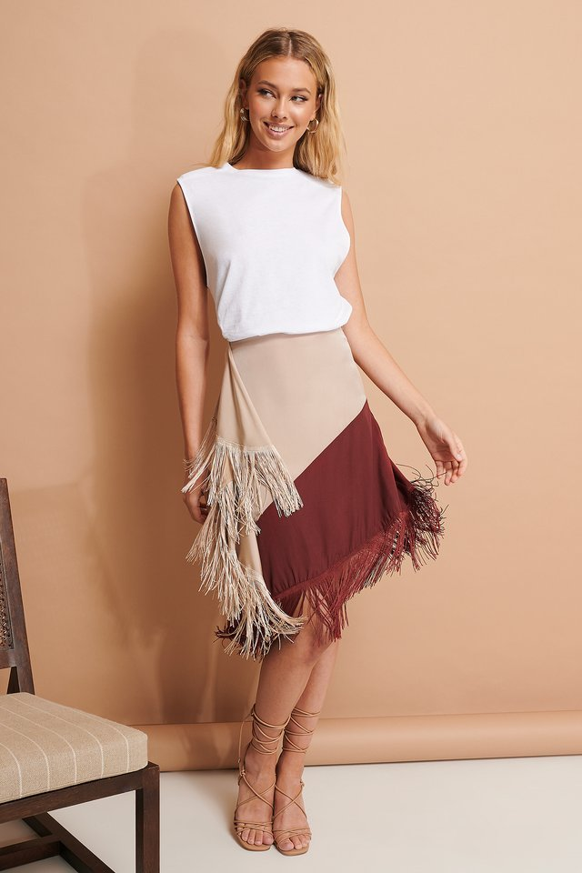 Fringe Detail Skirt