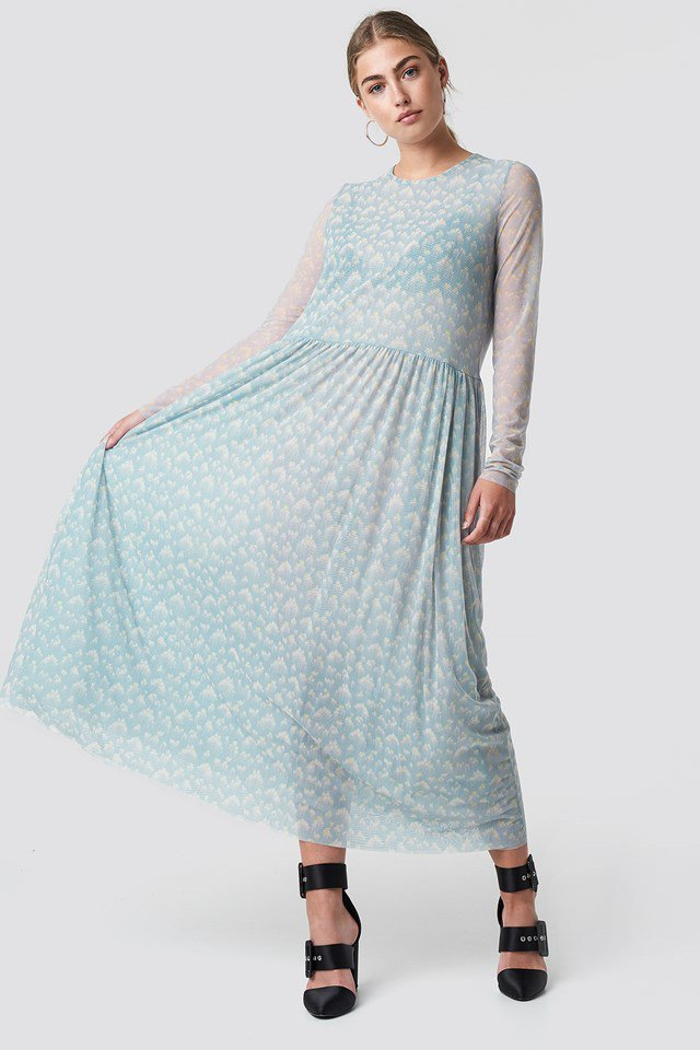 Round Neck Maxi Dress Outfit
