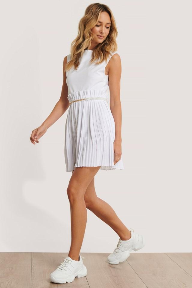 Paper Waist Mini Skirt