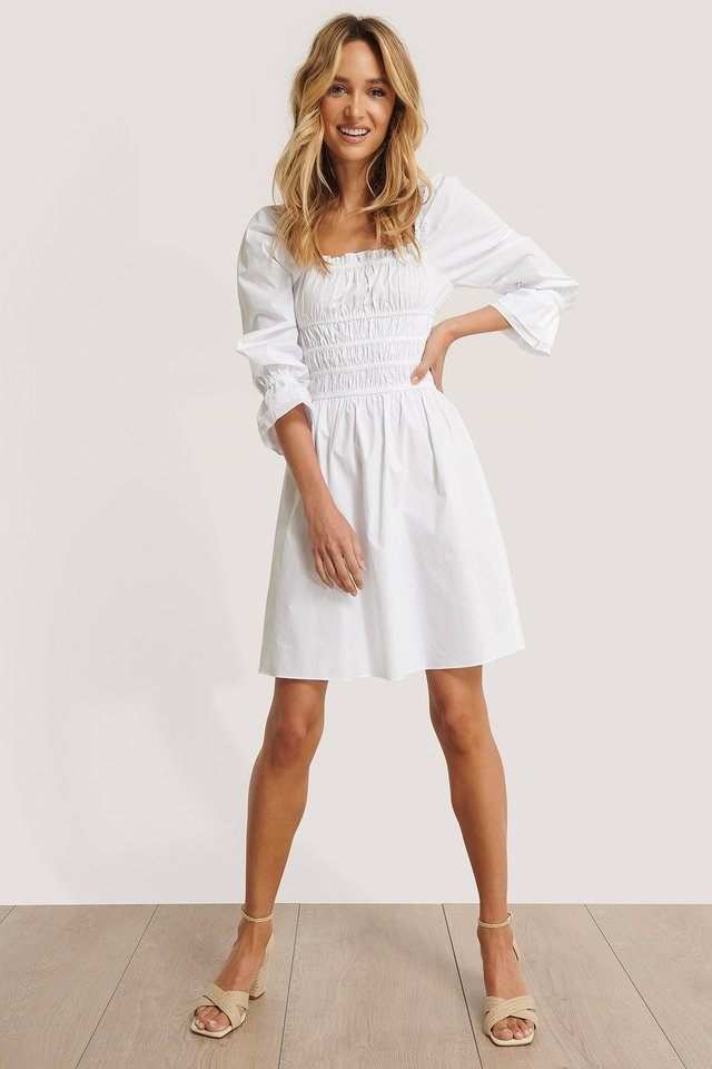 Square Frill Neck Dress