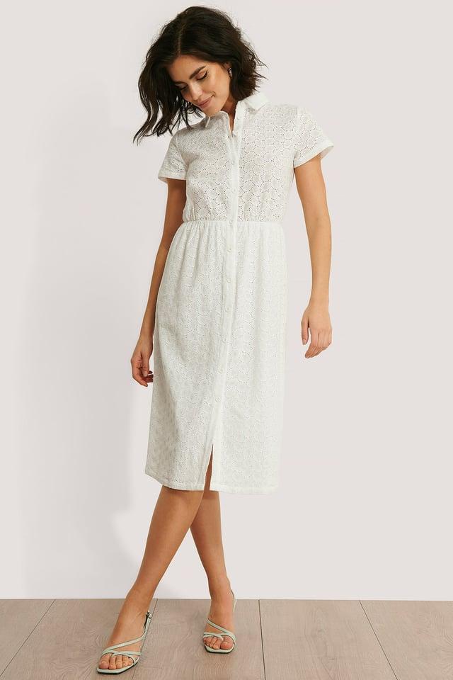 Short Sleeve Anglaise Dress