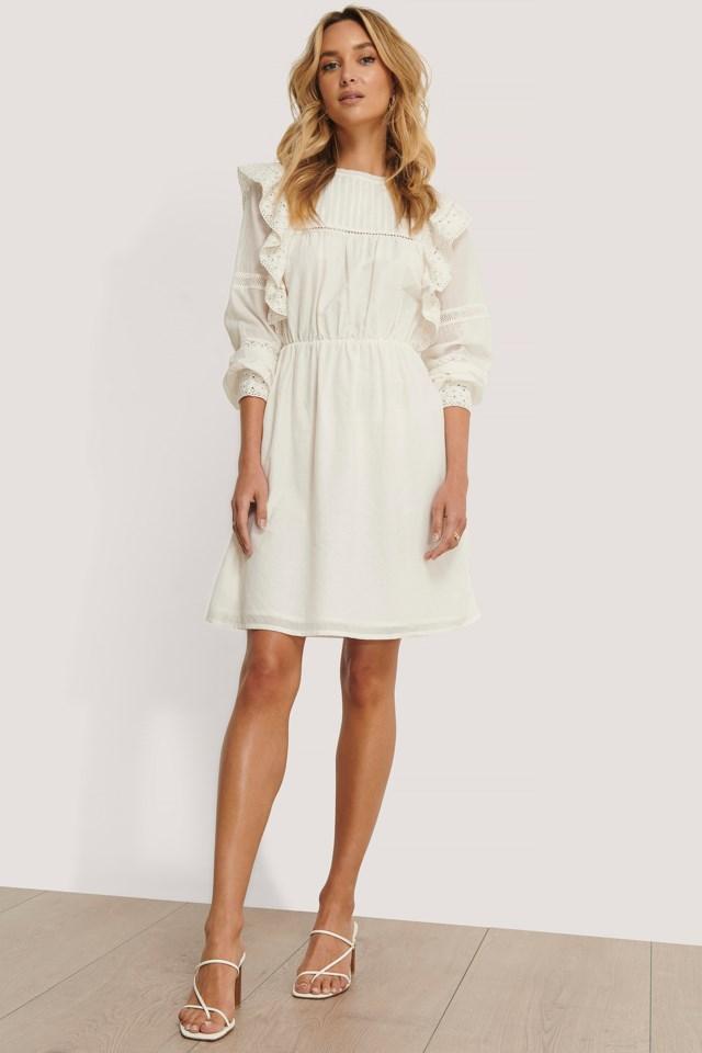 Lace Frill Cotton Dress