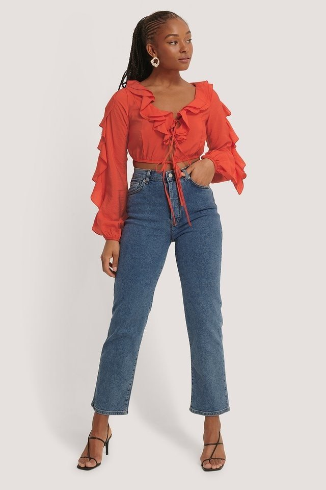 Cropped Frill Blouse