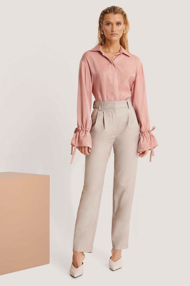 Loose Fit Suit Pants