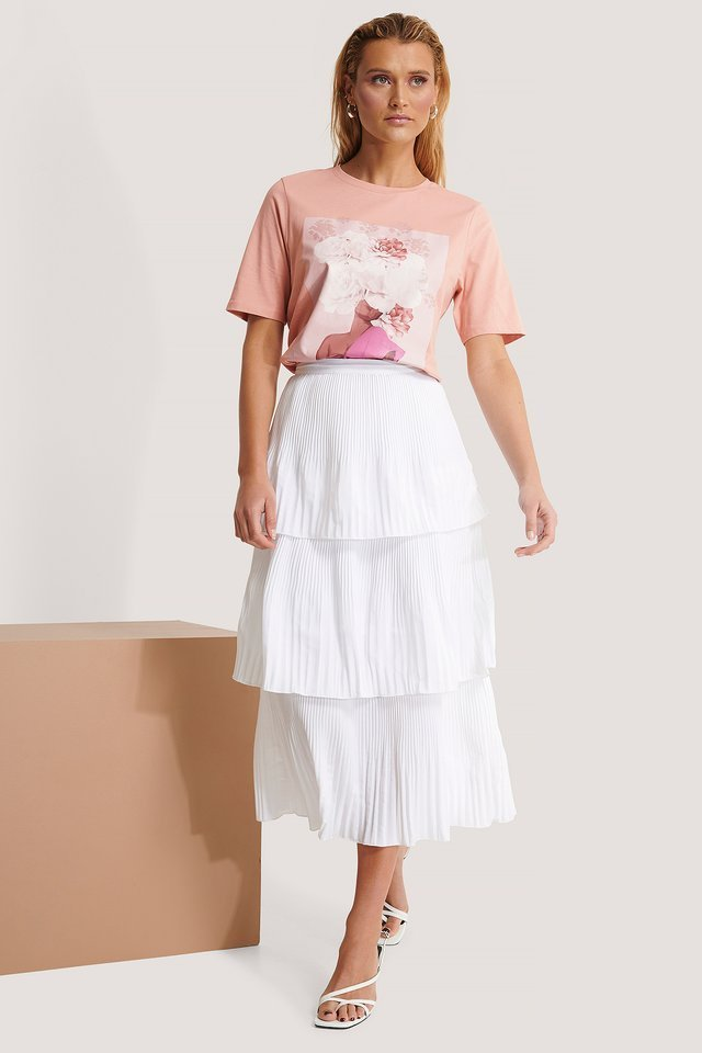 Plisse Ankle Skirt