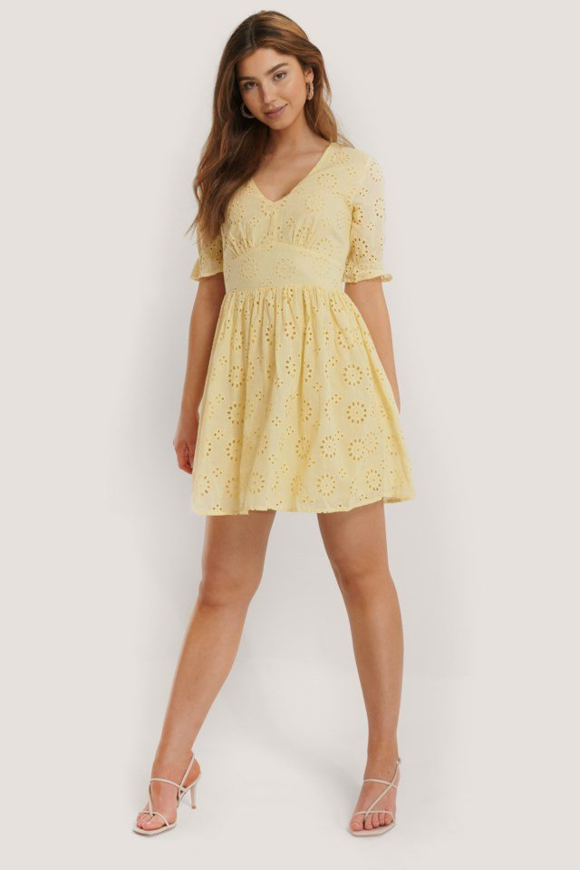 Big Flower Anglaise Dress