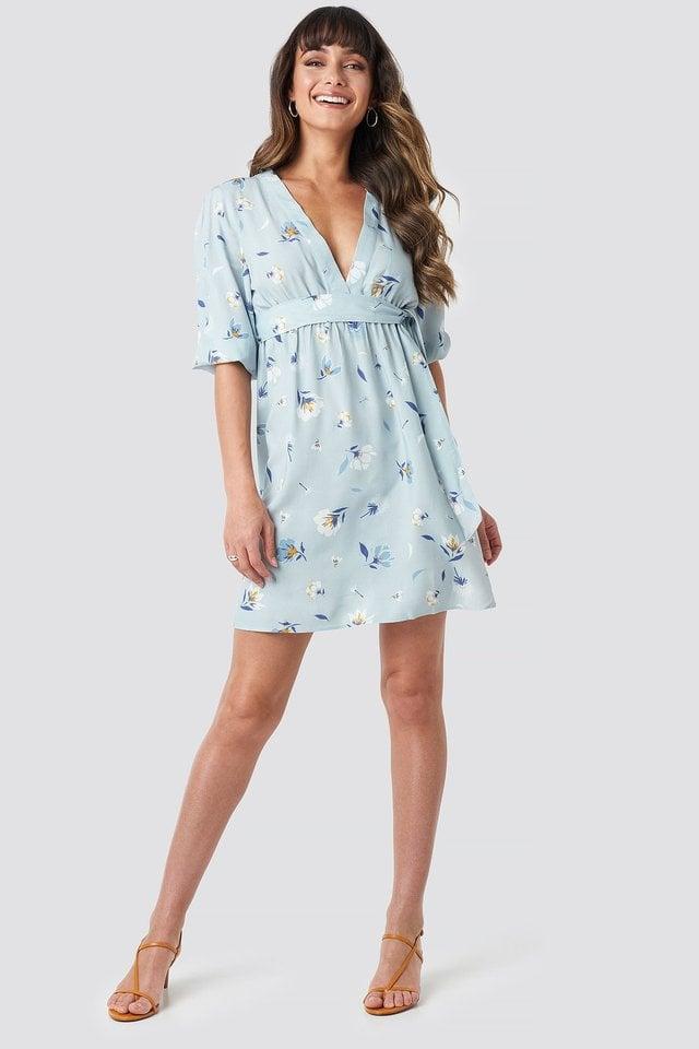 Deep V Mini Dress Outfit.