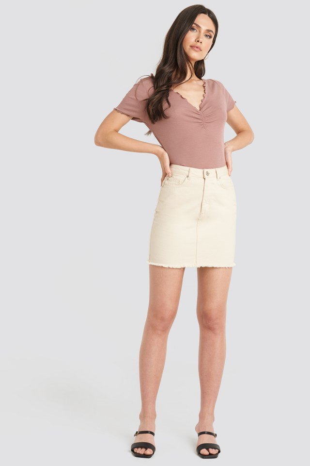 Front Ruched Babylock Top Pink Outfit