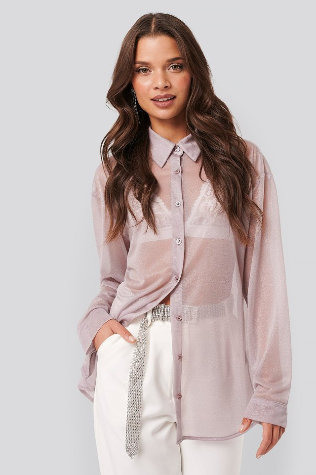 Sparkle Blouse Dusty Lilac