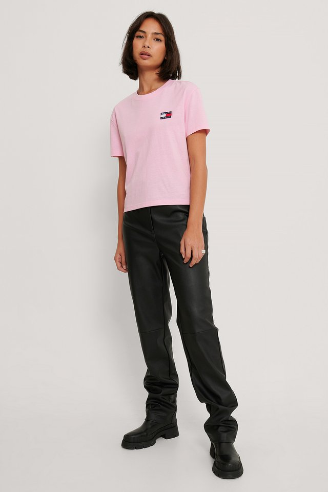 Tommy Badge T-Shirt Pink