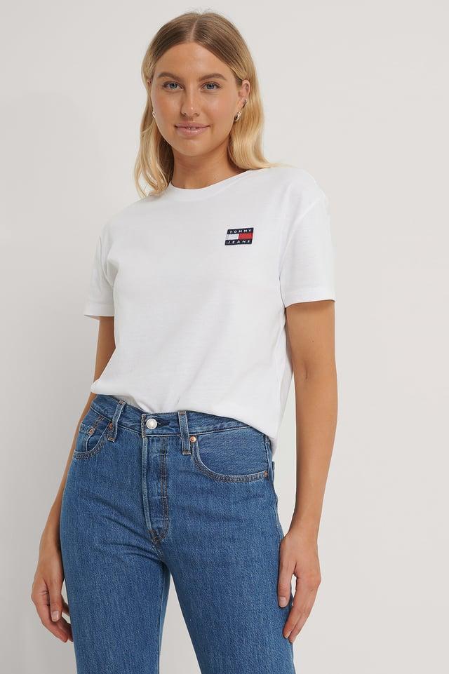 White Tommy Badge T-Skjorte