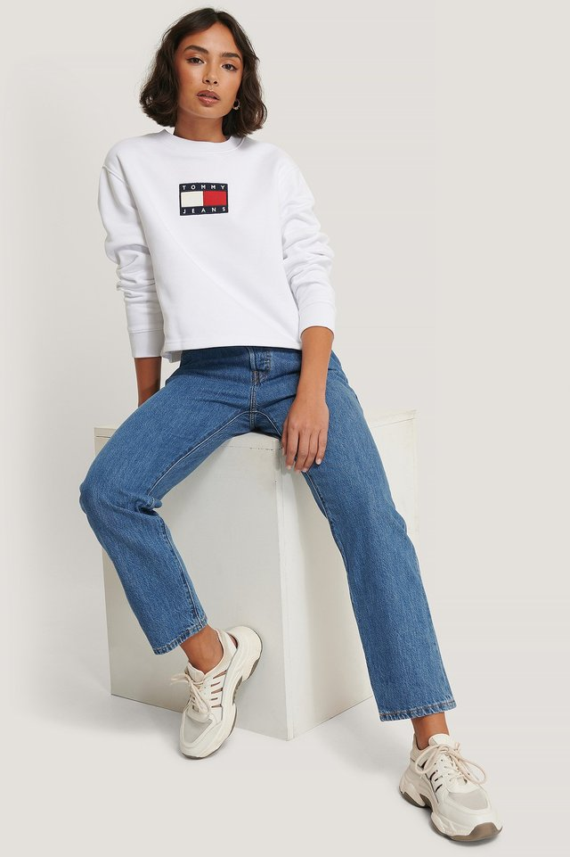 Tommy Flag Crew White
