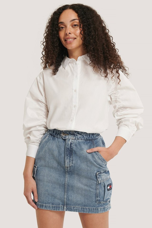 Denim Denim Cargo Skirt
